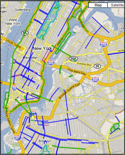 View the New York City Bike Map
